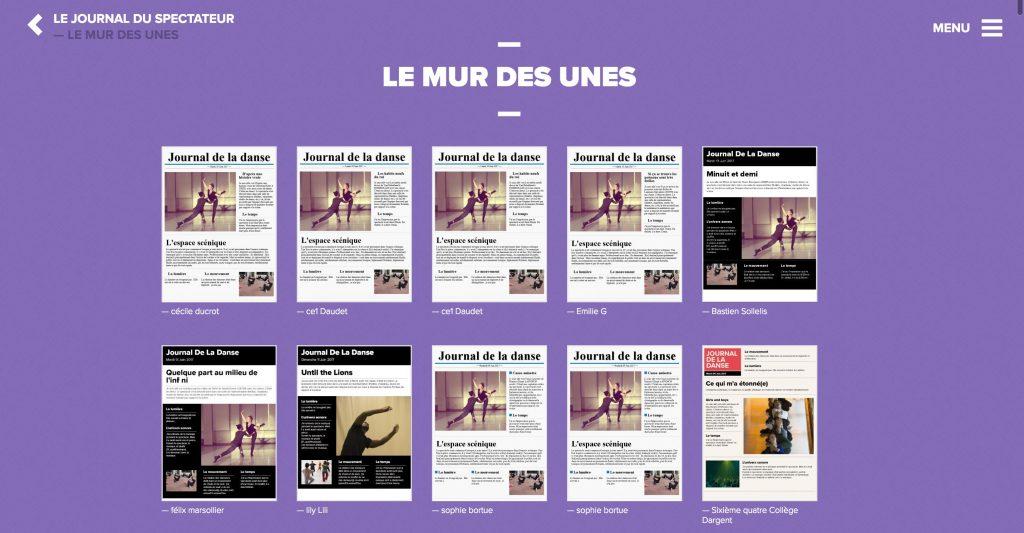 Journal Data-danse, le portail de la danse