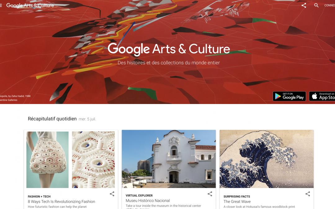 Google Arts & Culture, une plateforme haute en couleurs !